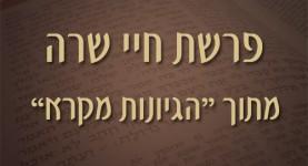 פרשת חיי-שרה | מתוך הגיונות מקרא - ישראל אלדד